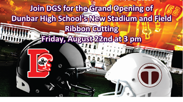 Dunbar High School Stadium and Field Ribbon Cutting 8-22-14