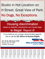 Housing Discrimination Poster: Use of Guide Dogs