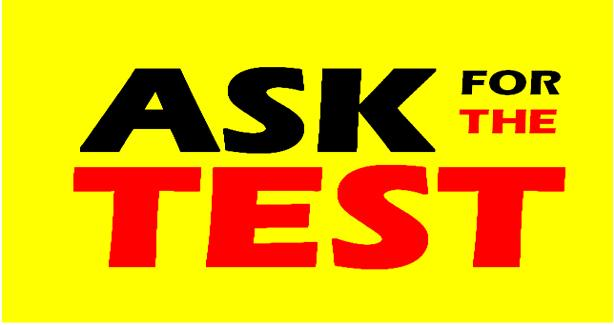 Ask for the Test logo