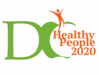 DC Healthy People 2020 Logo, Green and Orange