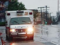 Photo of an ambulance on a response call