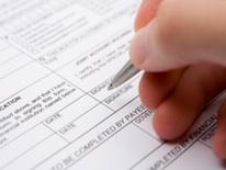 Picture of form being filled out